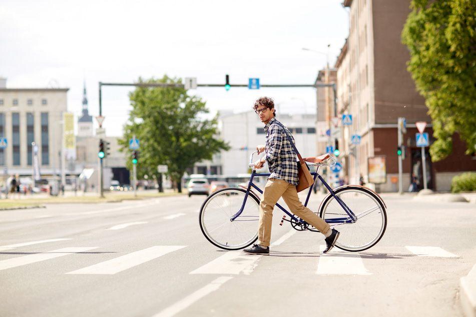 Bike in Crosswalk Palmdale